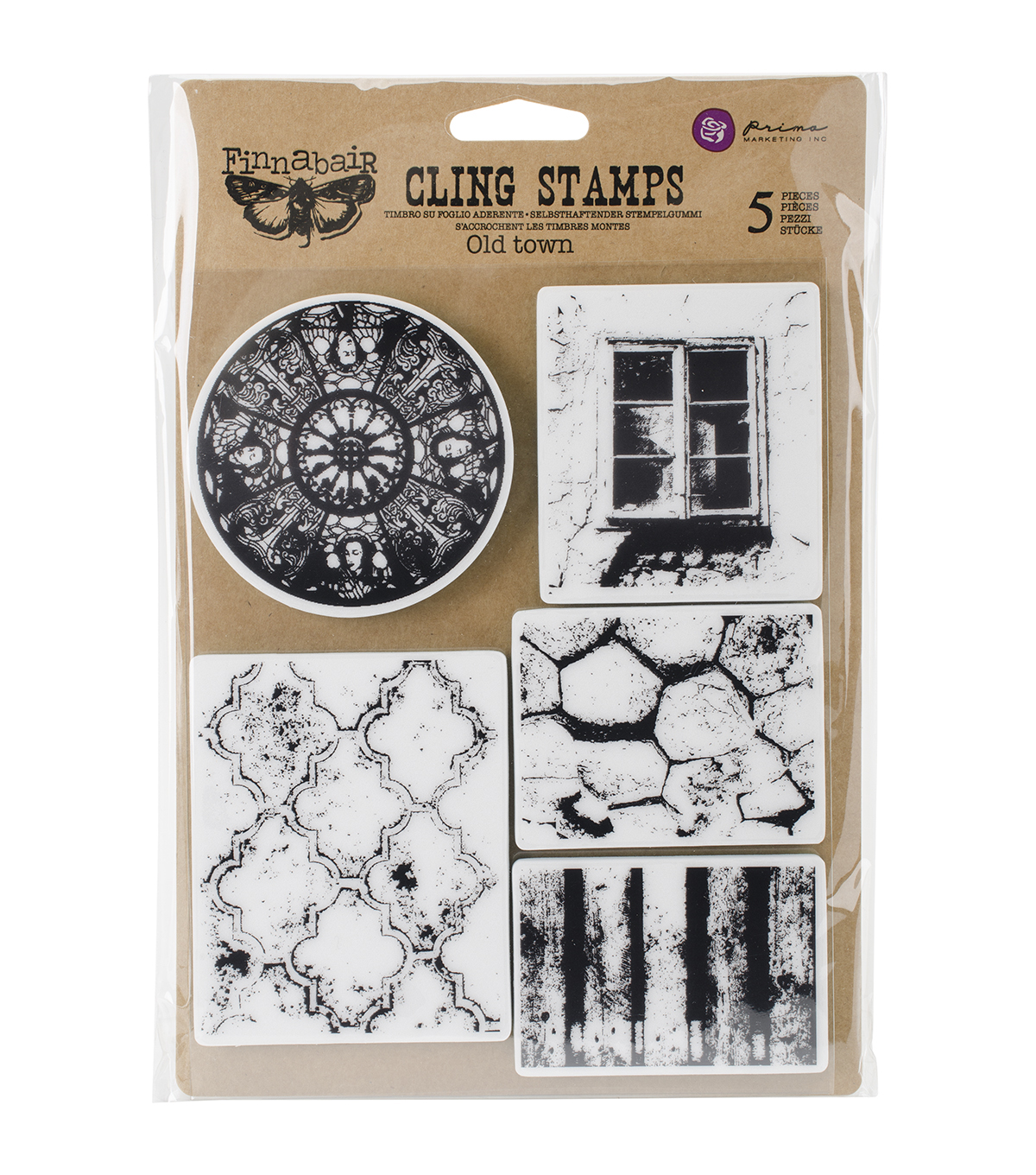 Prima Marketing Finnabair Old Town Cling Stamps