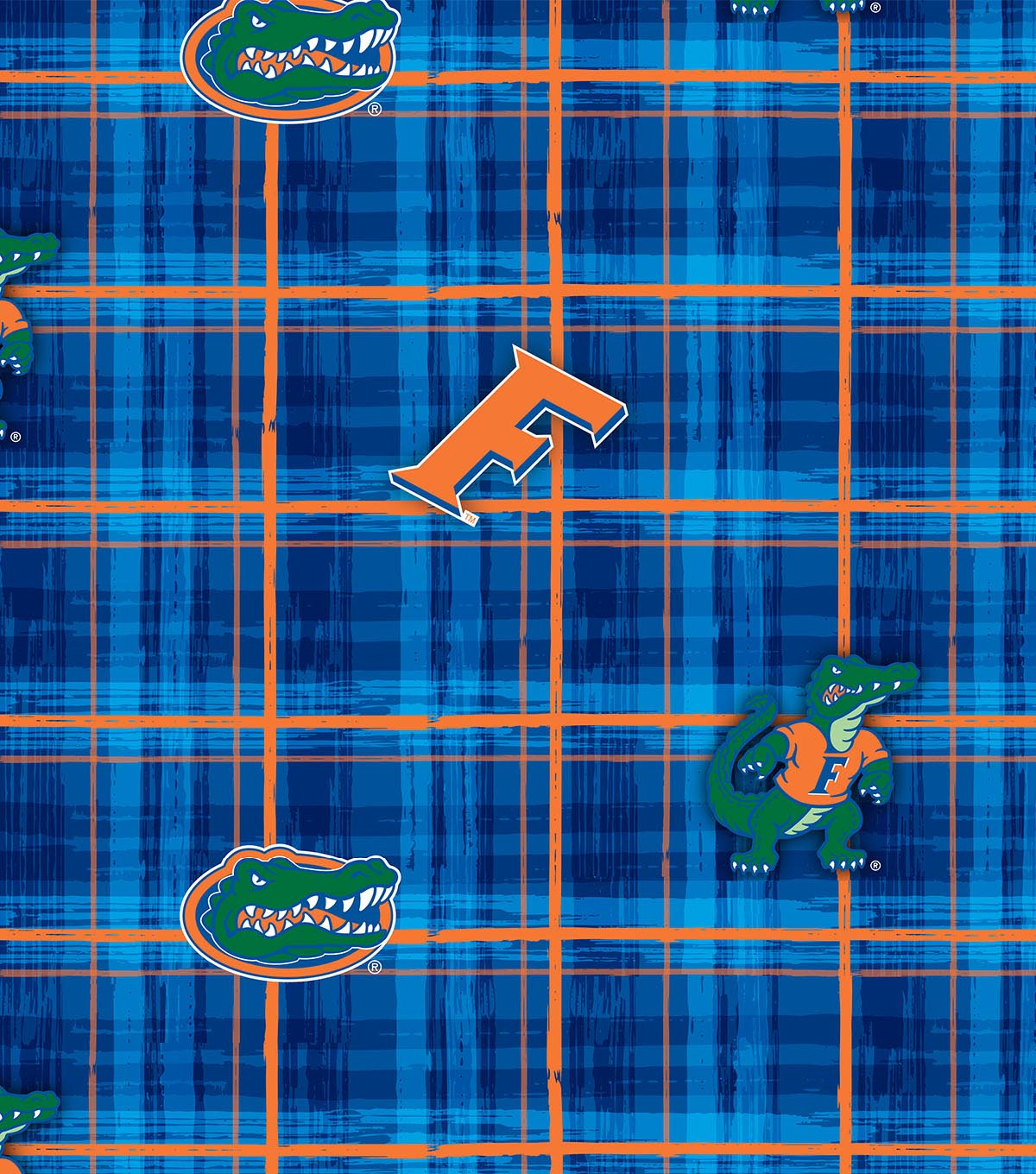 "University of Florida Gators Cotton Fabric 43""-Plaid"