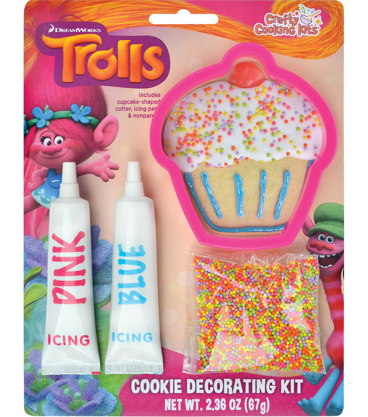 Dreamworks Trolls Cookie Decorating Kit