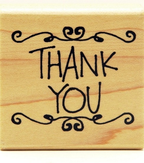 Inkadinkado Rubber Stamp-Scrolly Thank You