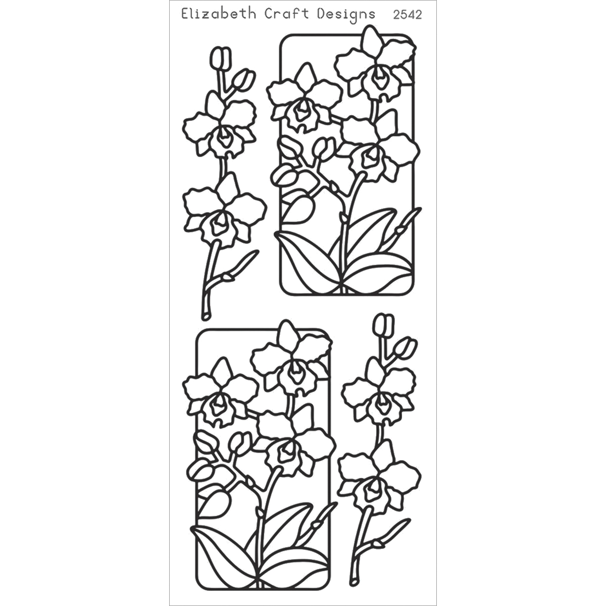 Elizabeth Craft Designs Flowers In Frame 3 Peel Off Stickers