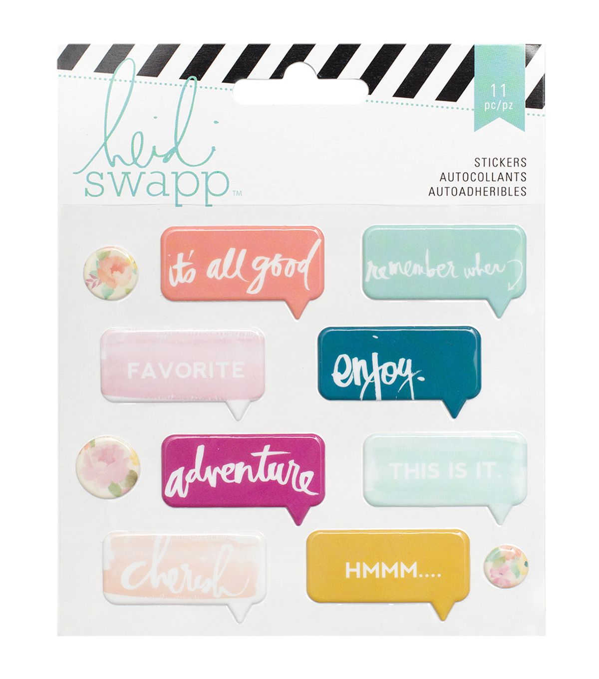 Wanderlust Puffy Stickers 11/Pkg-Speech Bubble