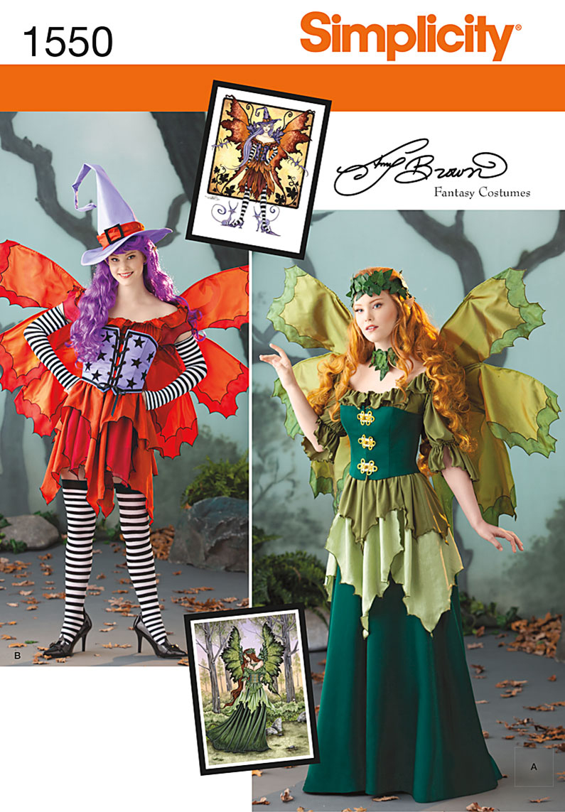 Simplicity Pattern 1550R5 14-16-18-2-Crafts Costumes