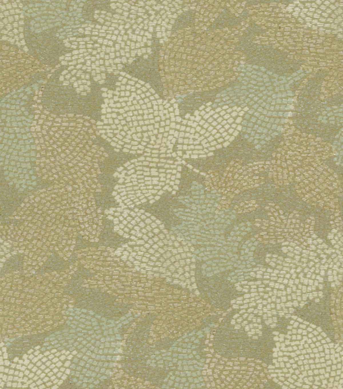Waverly Upholstery Fabric 54\u0022-Mosaic Leaves Vapor