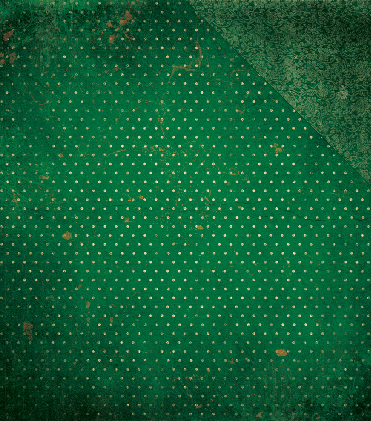 BoBunny Double Dot Vintage Double-Sided Cardstock 12\u0022X12\u0022-Evergreen
