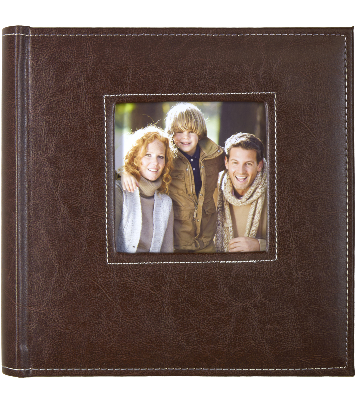 K&Company Brown Faux Leather 2 Up Memo Photo Album