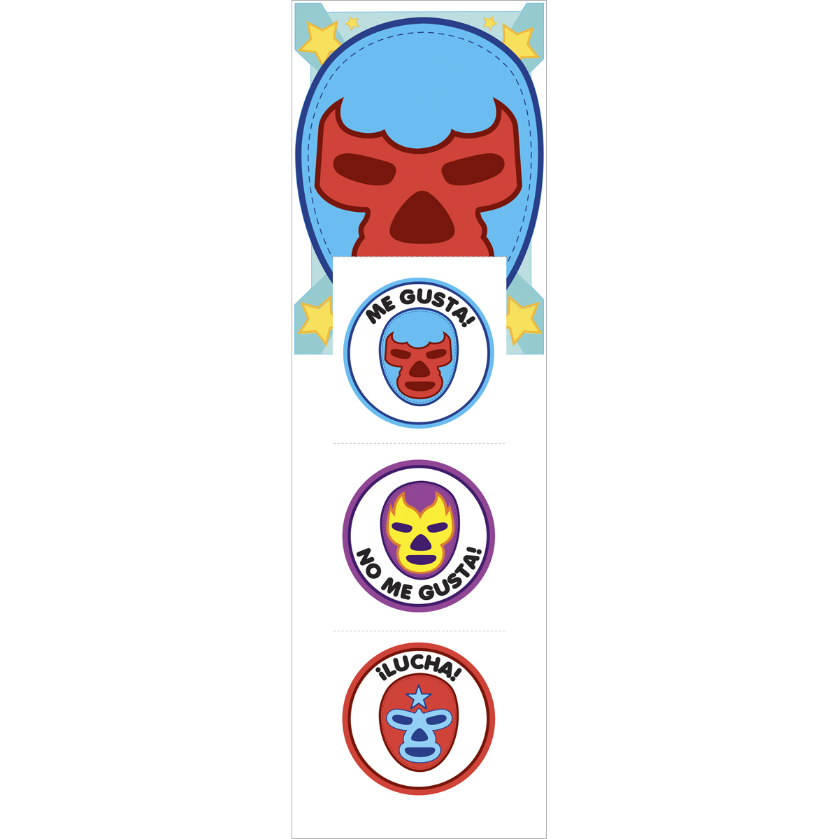 Sticko Stickofy Stickers Lucha