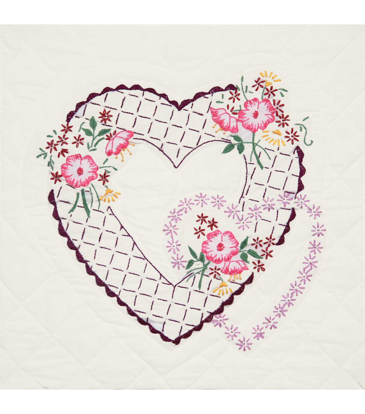 Fairway Stamped Quilt Blocks Twin Rose