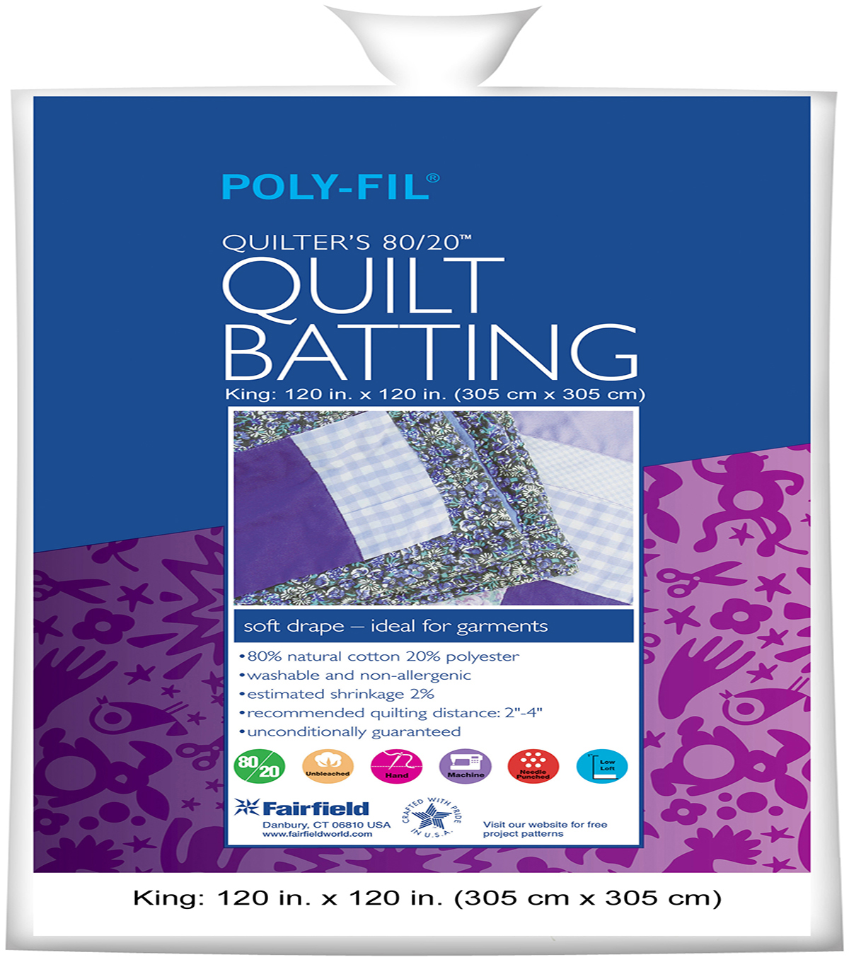 "Quilters 80/20™ Batting 120"" x 120"""