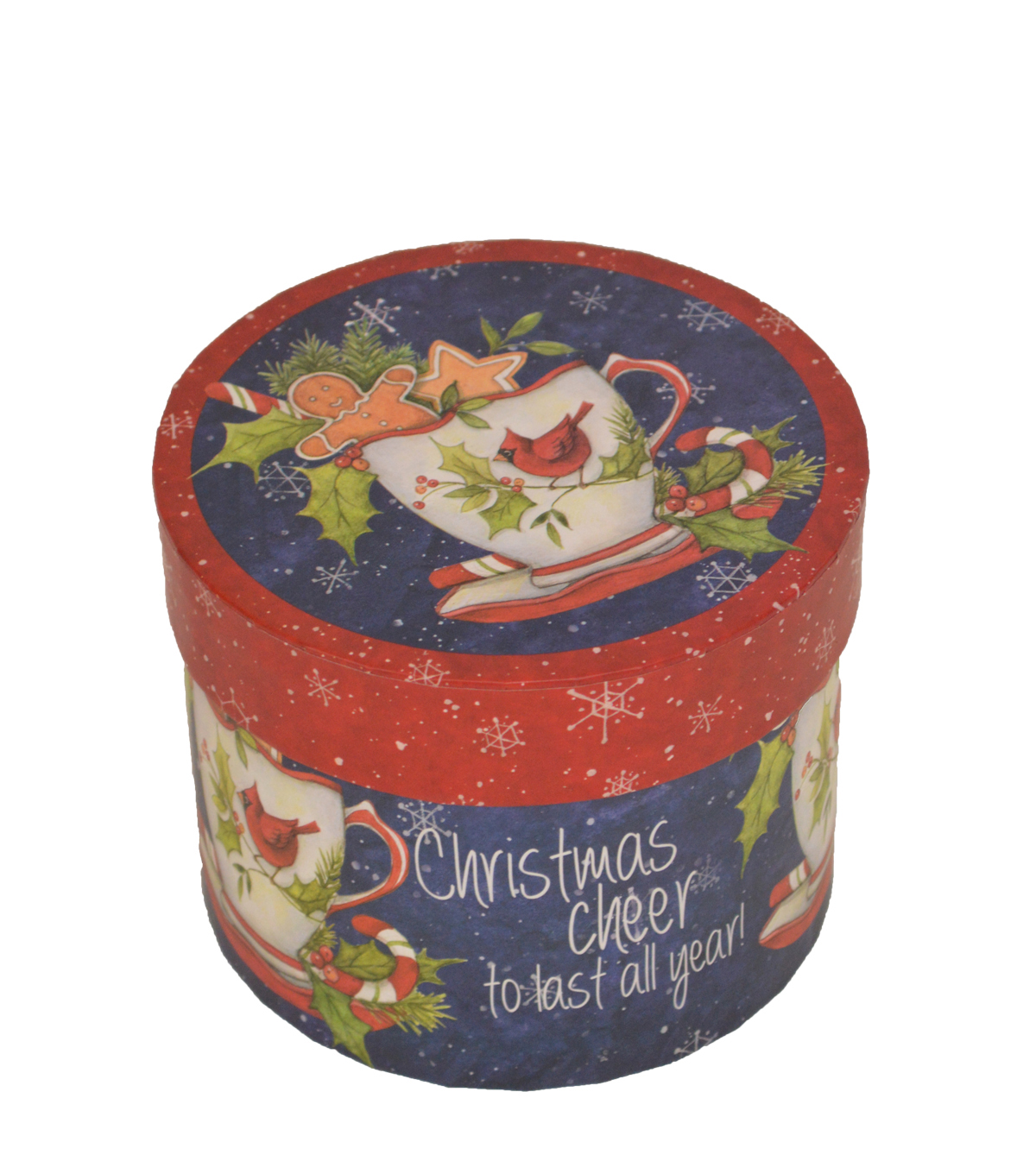 Maker\u0027s Holiday Small Round Box-Teacup