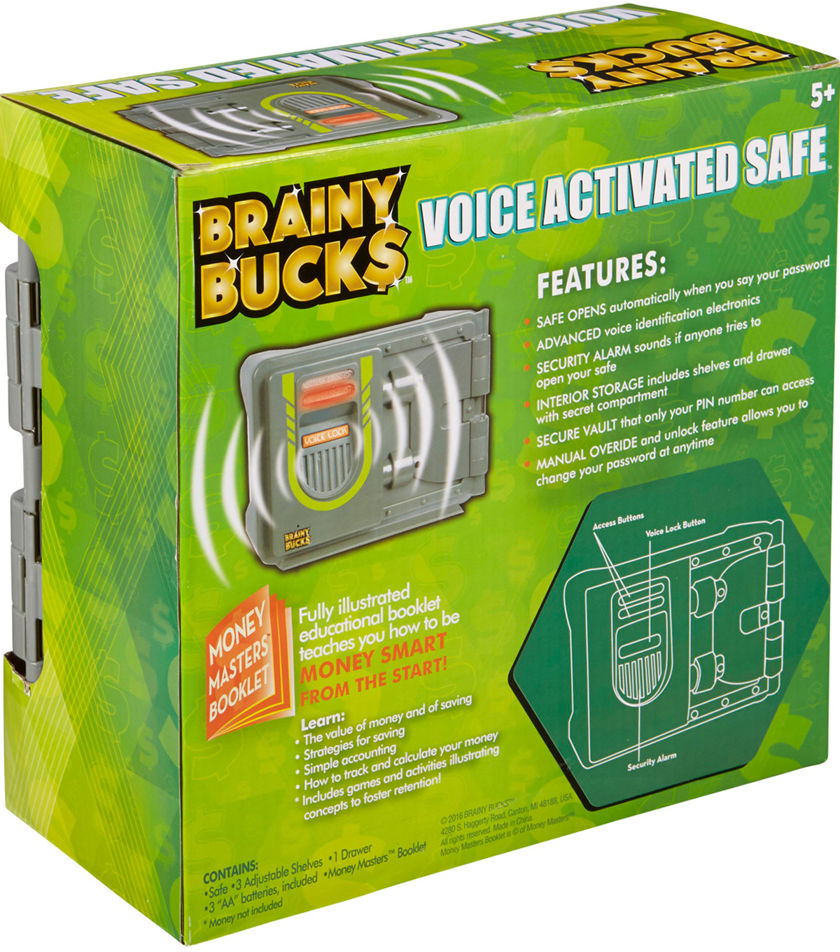 Brainy Bucks Voice Activated Safe