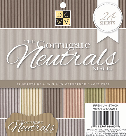 DCWV 6\u0022x6\u0022 The Corrugate Neutrals Stack