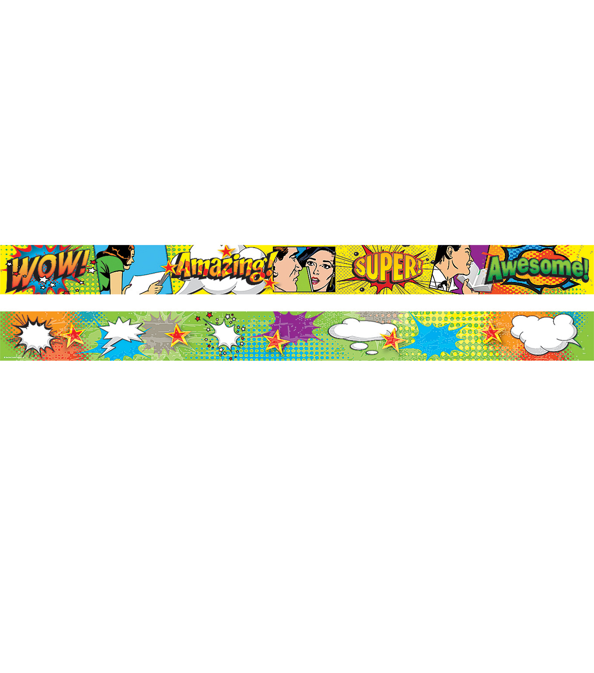 Positive Pop Art Xtreme Double-Sided Border