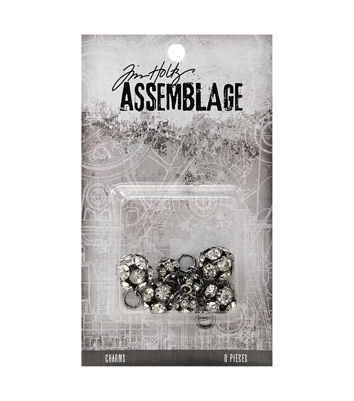 Tim Holtz® Assemblage Pack of 8 Sparkling Rondells Charms
