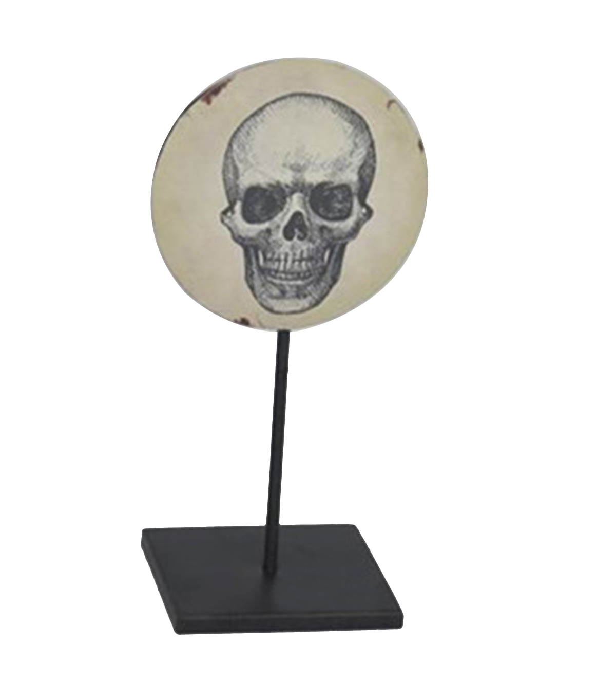 Maker\u0027s Halloween Metal Tabletop with Stand-Skull