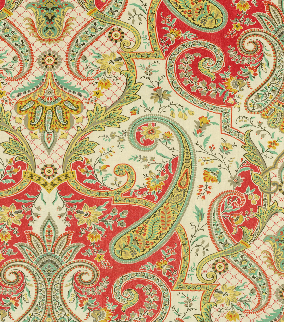 Waverly Print Fabric 54\u0022-Lyrical Legend/Radish