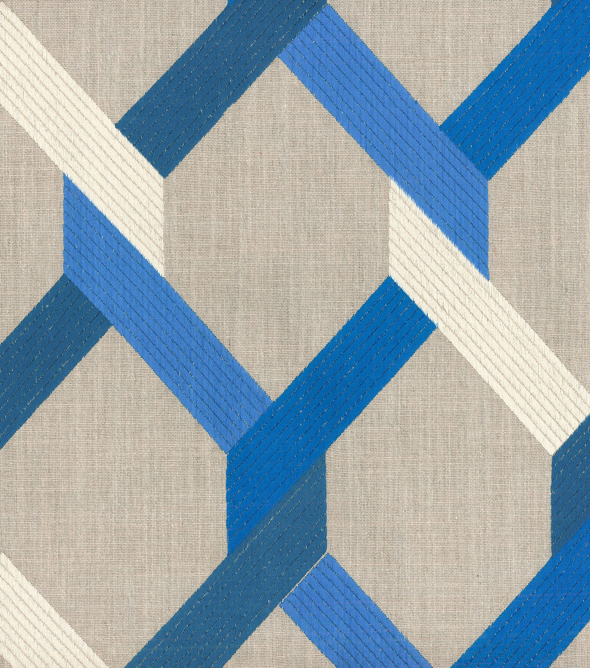 HGTV Home Upholstery Fabric 54\u0022-Posh Embroidery/Lapis