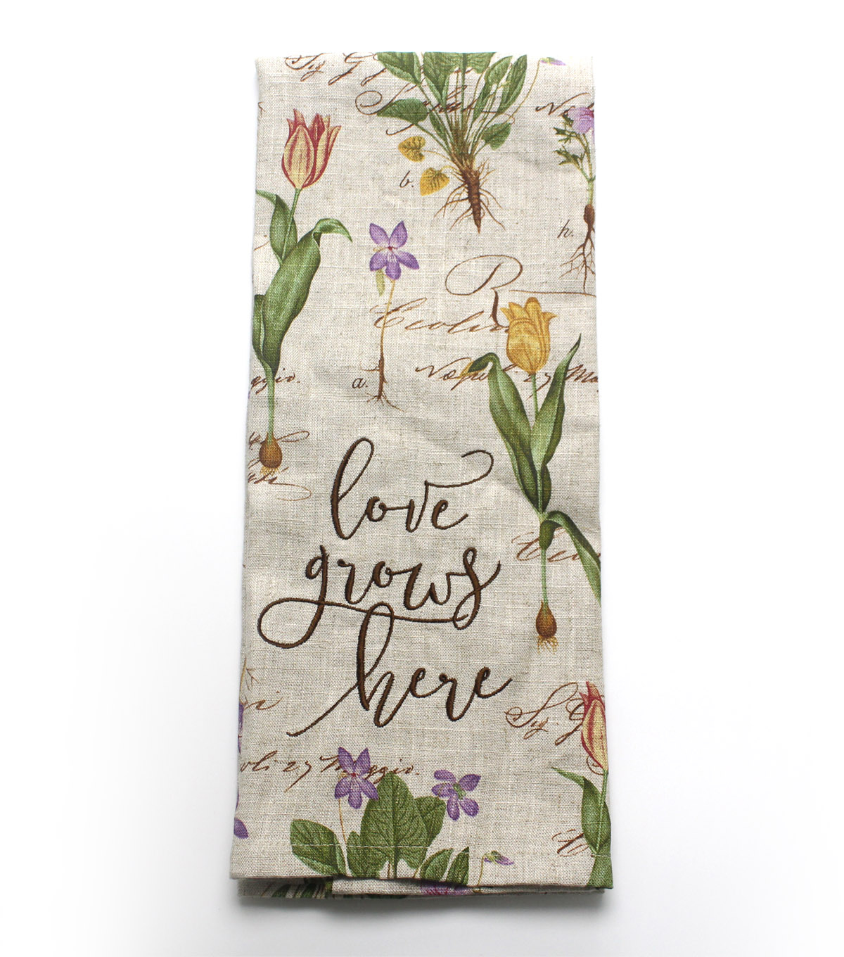 Wild Blooms Towel-Love Grows Here