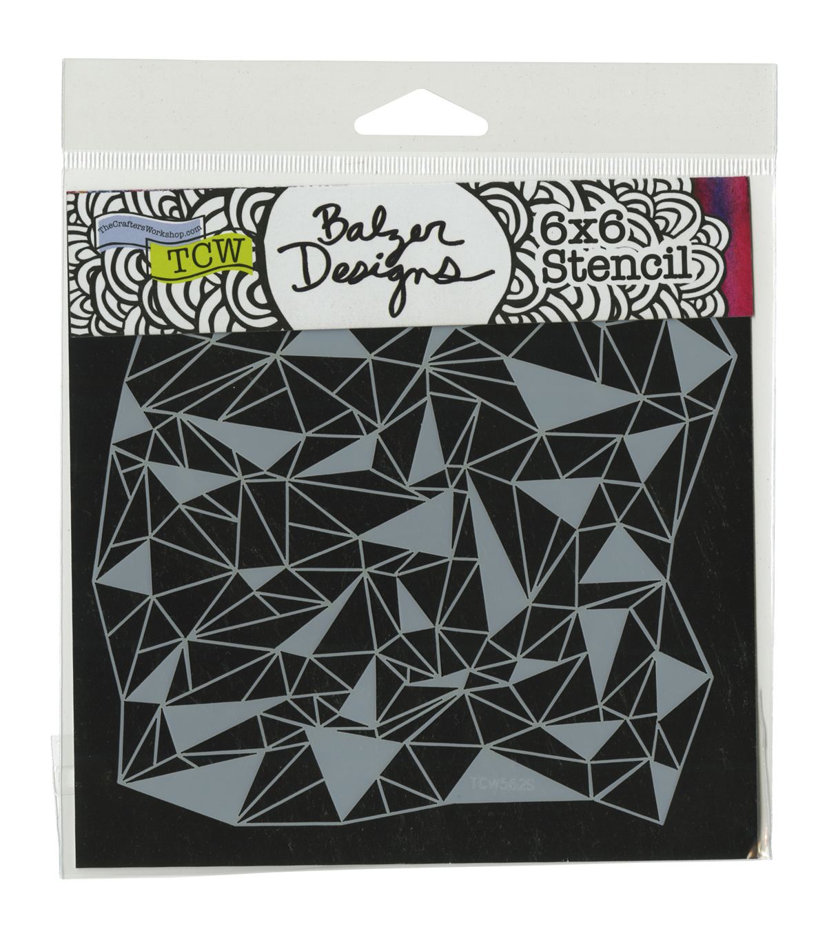 Crafter's Workshop 6''x6'' Template-Shattered Triangles