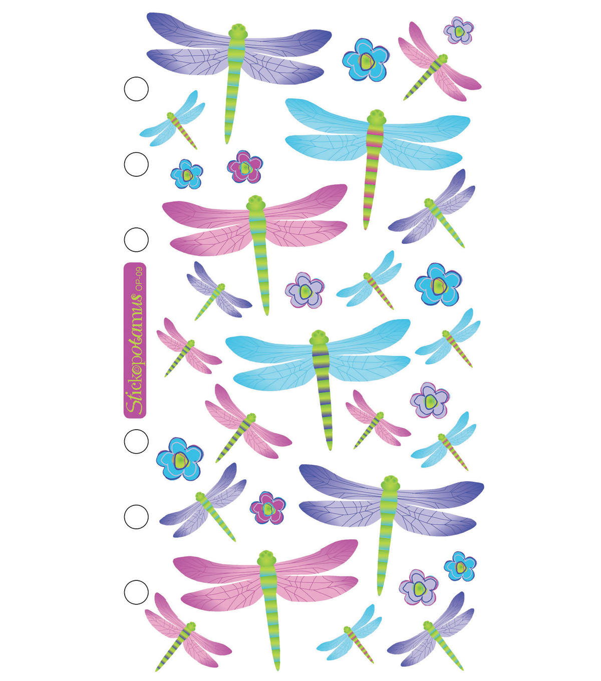 Sticko® Stickers-Opalescent Dragonflies