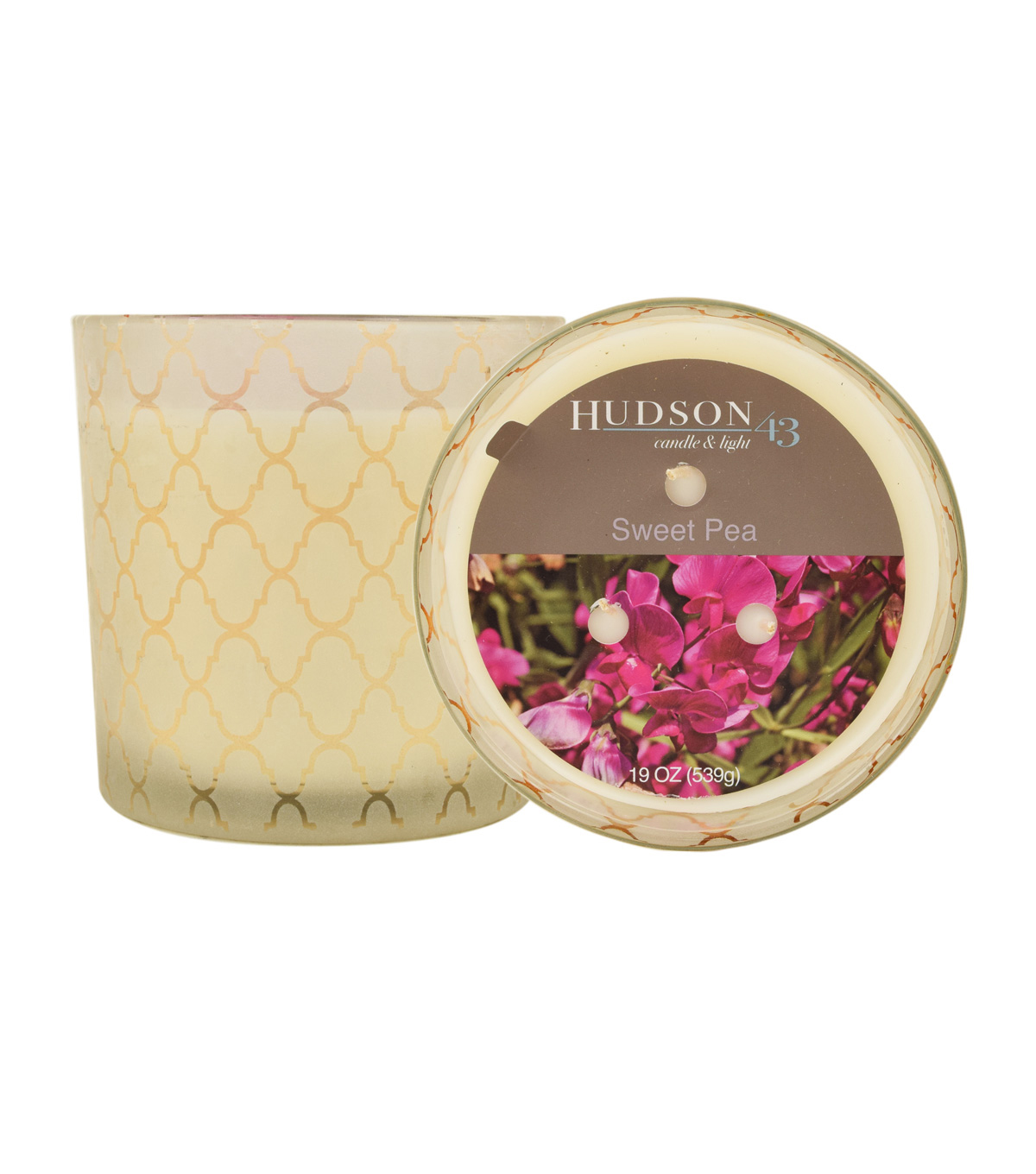 Hudson 43™ Candle & Light Collection 19oz Patterned Jar Sweet Pea