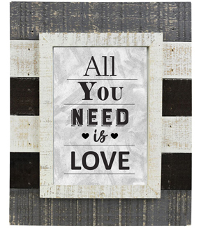 Farmhouse Frame 5\u0027\u0027x7\u0027\u0027-Distressed White All You Need Is Love