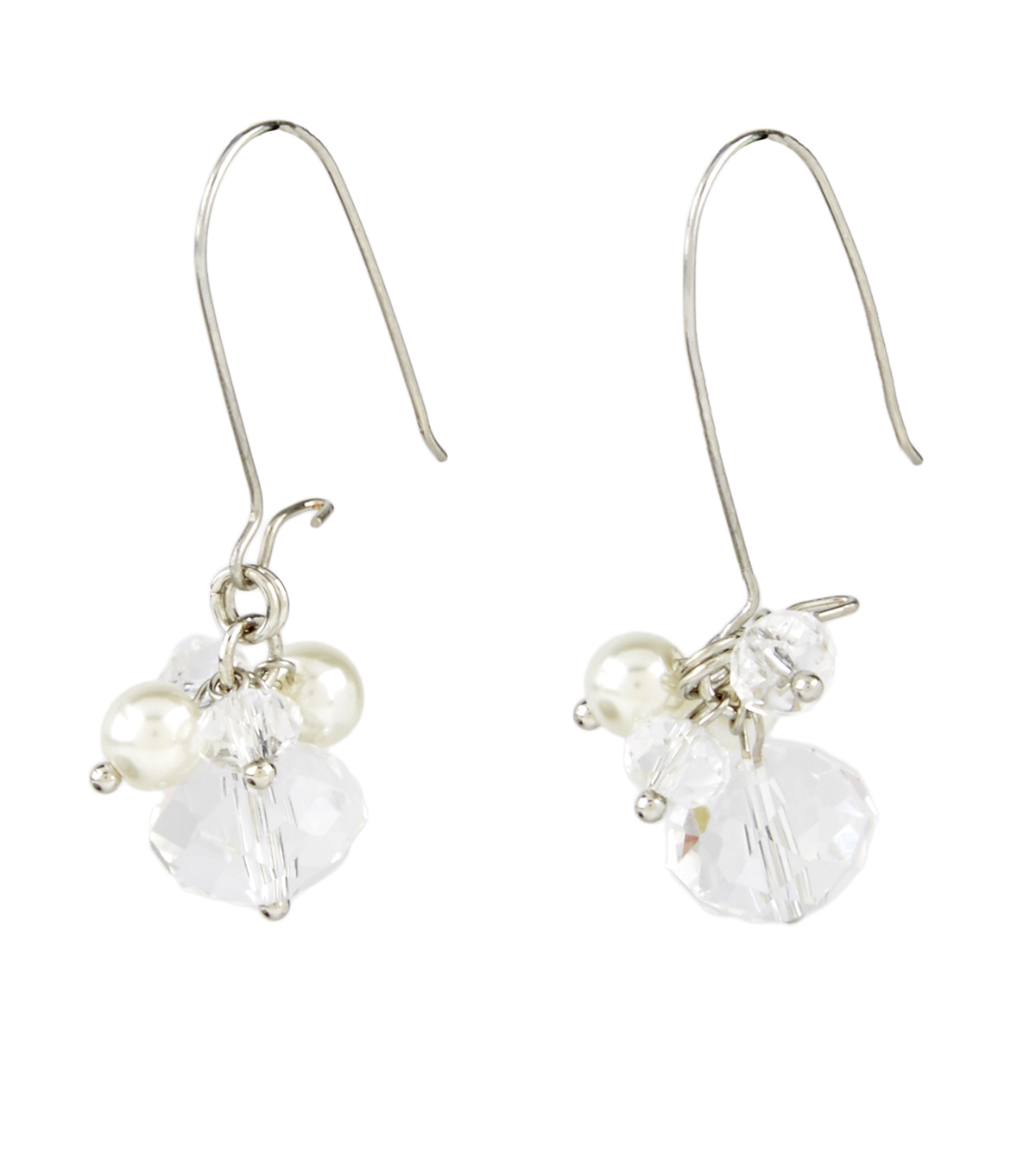 A-wire Drop Earring Pearl Crystal