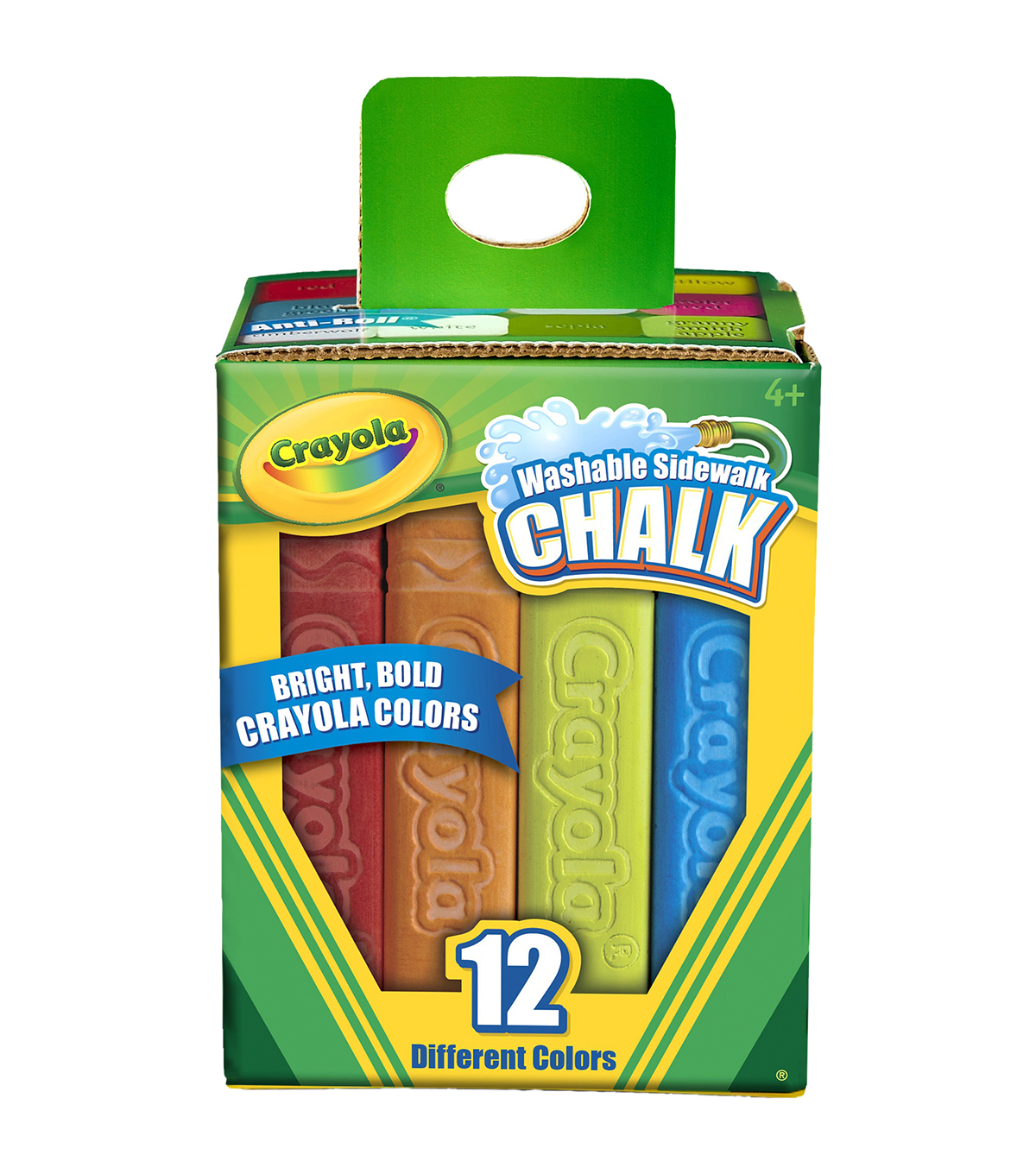 Crayola Sidewalk Chalk 12/Pkg-Assorted Colors