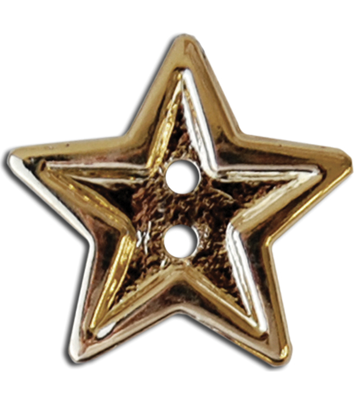 Blumenthal Lansing-Slimline Buttons-Bright Gold Star 2-Hole 7/8\u0022 3/Card