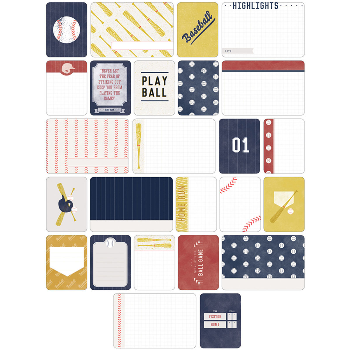 Project Life Themed Cards 40/Pkg-Baseball