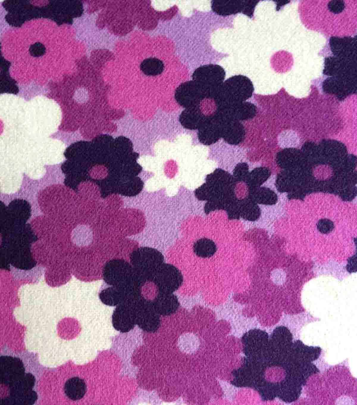"Snuggle Flannel Fabric 42""-Regal Orchid Bunched Flowers"