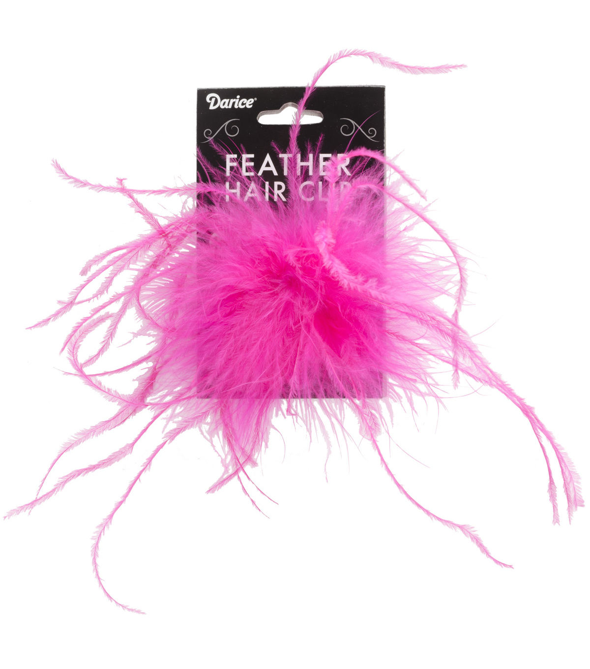 HOT PINK -OST FEATHR HAIR CLIP