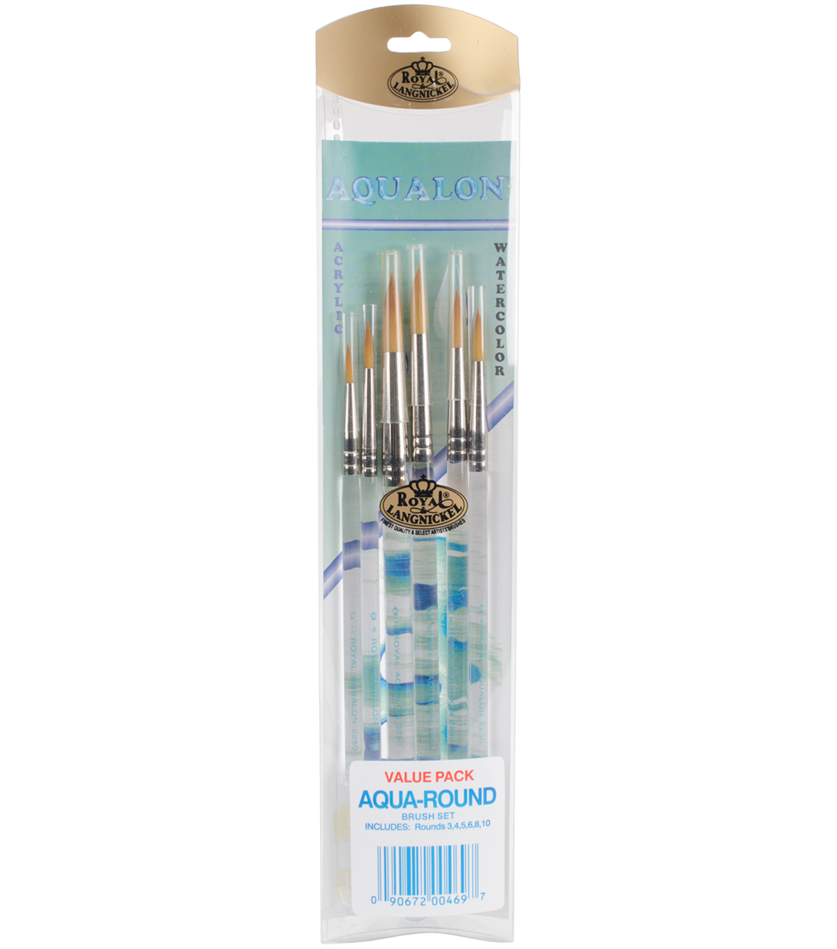 Royal Aqualon Brush Set-Round 6 Pack