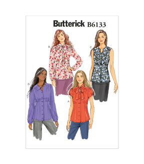 Butterick Pattern B6133-E50-Misses\u0027 Blouse-14-16-18-20-22