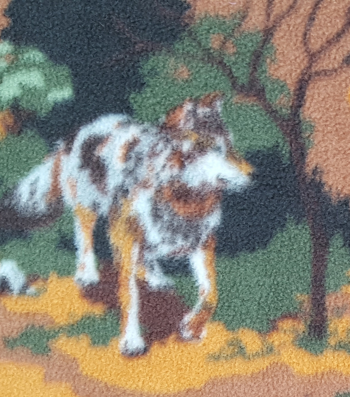 Anti-Pill Fleece Fabric 59\u0022-Wild Wolves Camo
