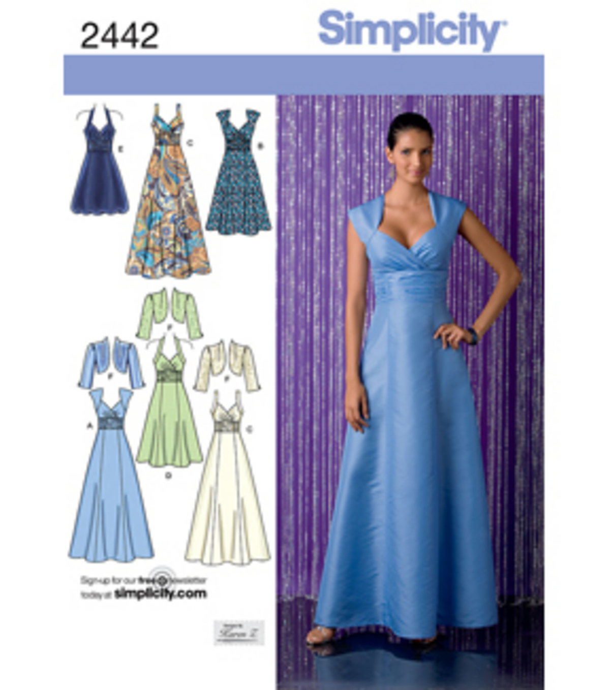 Simplicity Pattern 2442H5 6-8-10-12--Simplicity Misses