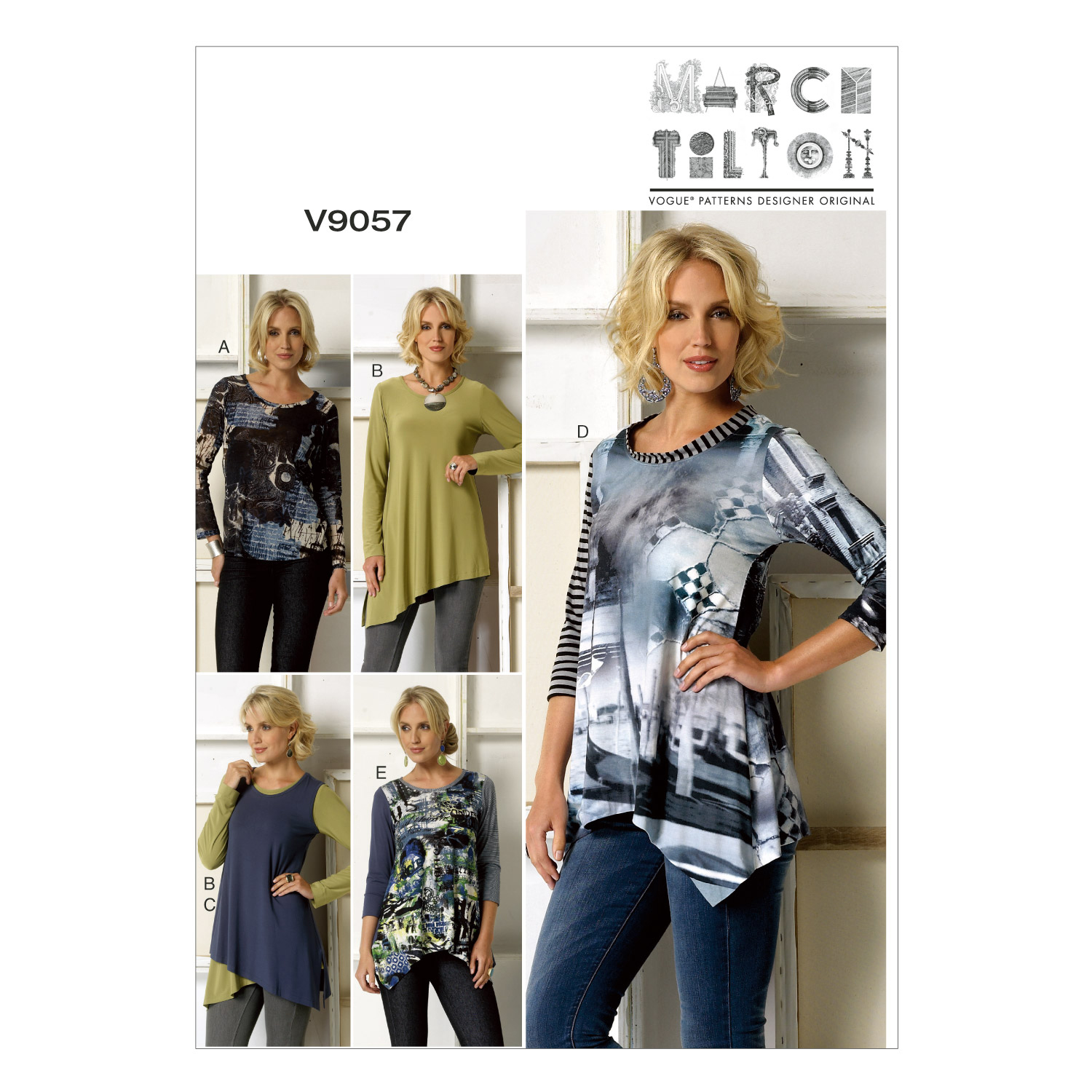 Vogue Patterns Misses Top-V9057