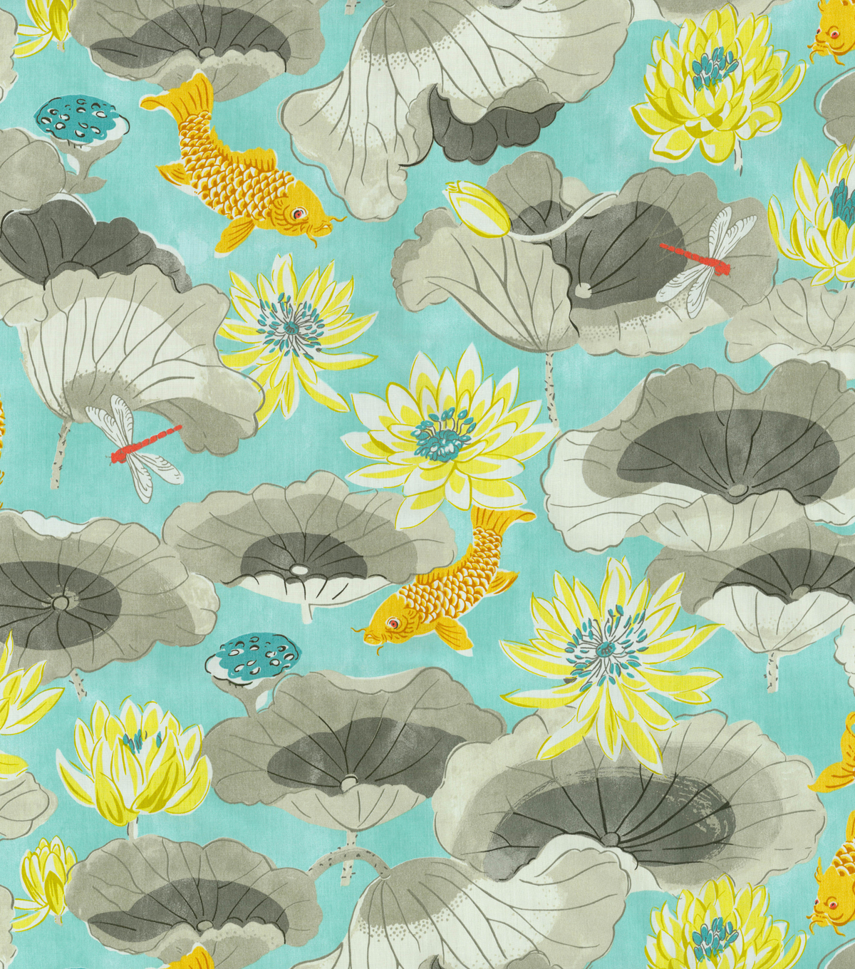 Waverly Print Fabric 54\u0022-Lotus Lake/Pool