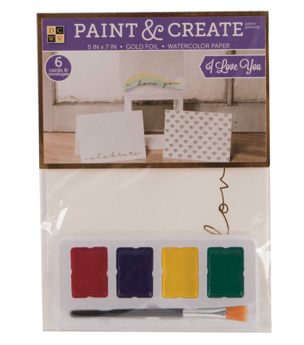 DCWV Paint & Create Cards & envelopes: I Love You