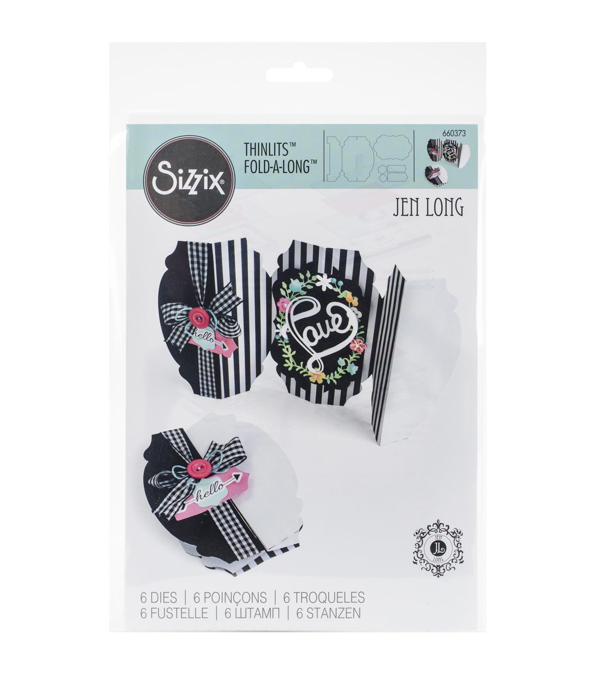 Sizzix Thinlits Fold-A-Long Rounded Dies