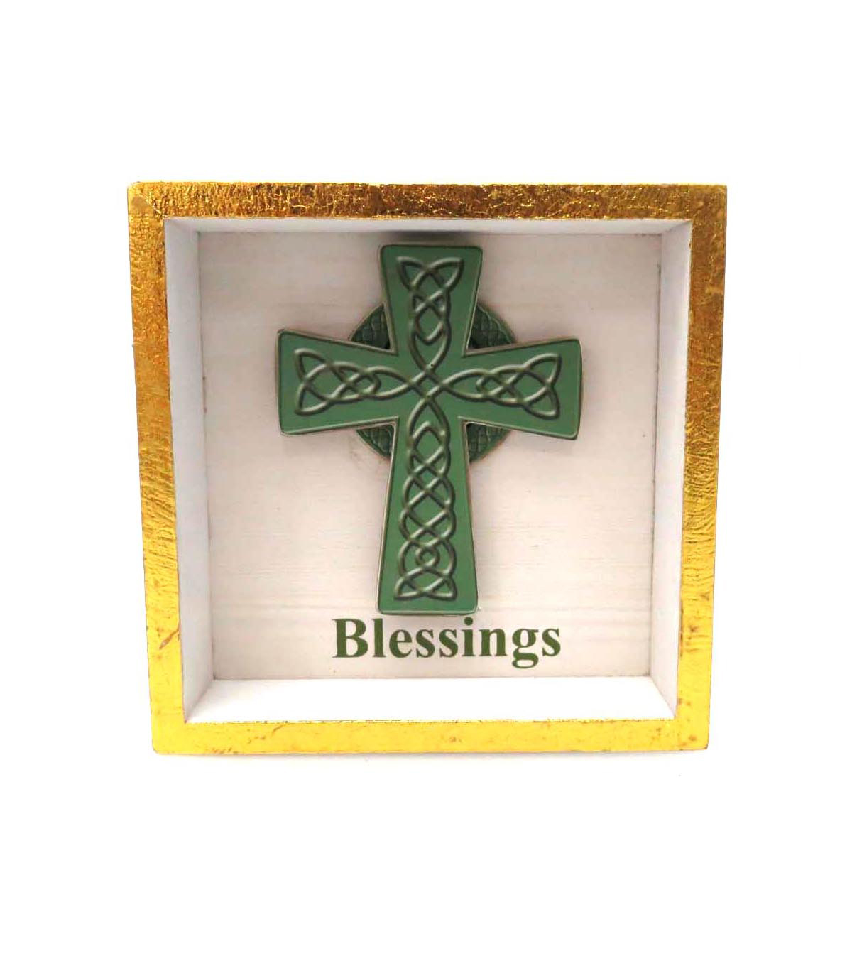 St. Patrick\u0027s Day Shadow Box Table Decor-Blessings