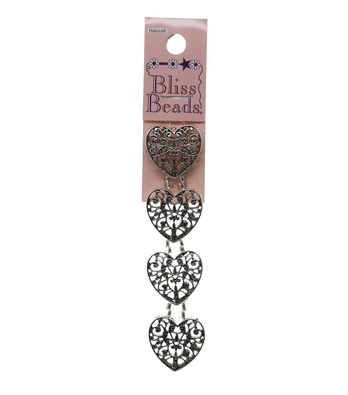 Bliss Beads Silver Plated Filigree Heart