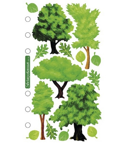 Sticko Vellum Stickers-Trees