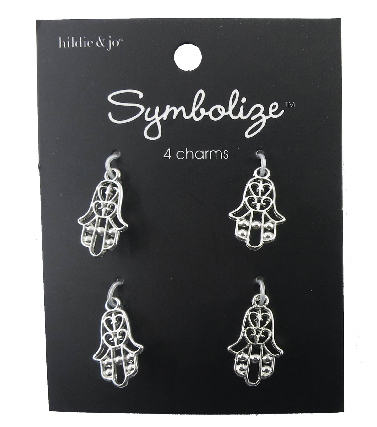 hildie & jo™ Symbolize 4 Pack Hamsa Silver Charms