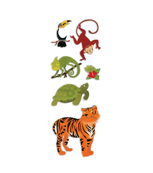 Touch Of Jolee\u0027s Dimensional Sticker-Jungle Animals