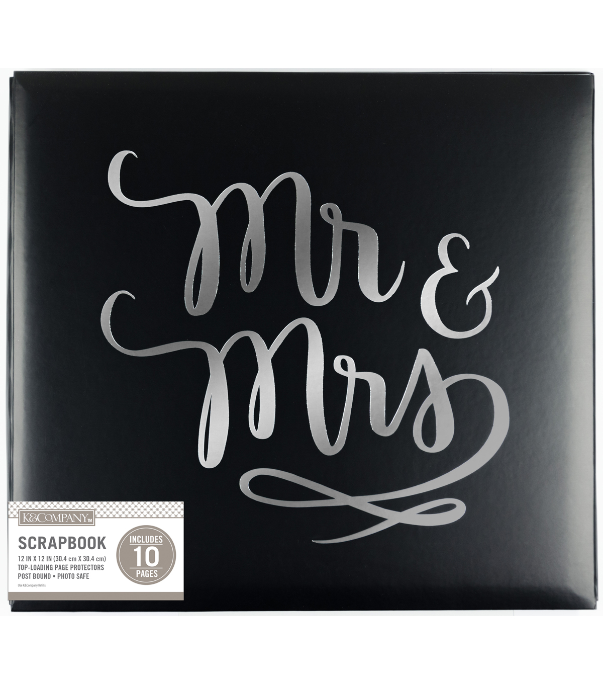 K&Company 12''x12'' Wedding Scrapbook-Mr. And Mrs.