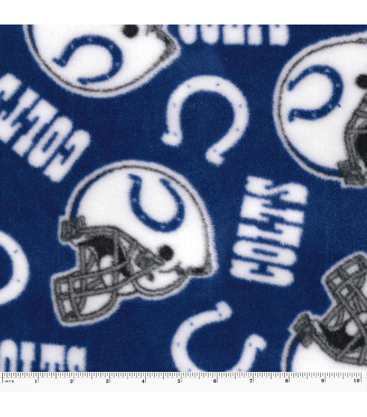 Indianapolis Colts Fleece Fabric 58\u0022-Tossed