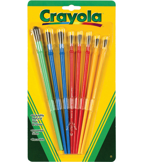 Crayola Paintbrush Set-8PK