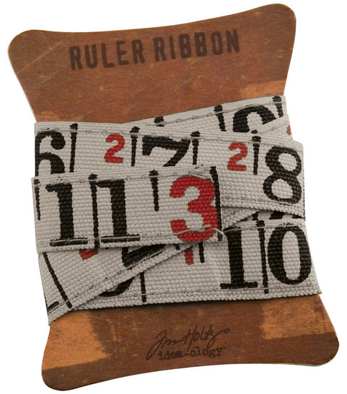 Tim Holtz 1 yard Ruler Ribbon-1PK/Idea-Ology