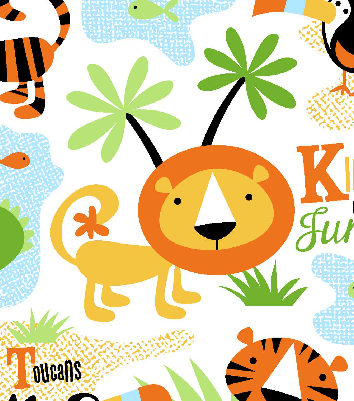 Snuggle Flannel Fabric 42''-King of The Jungle